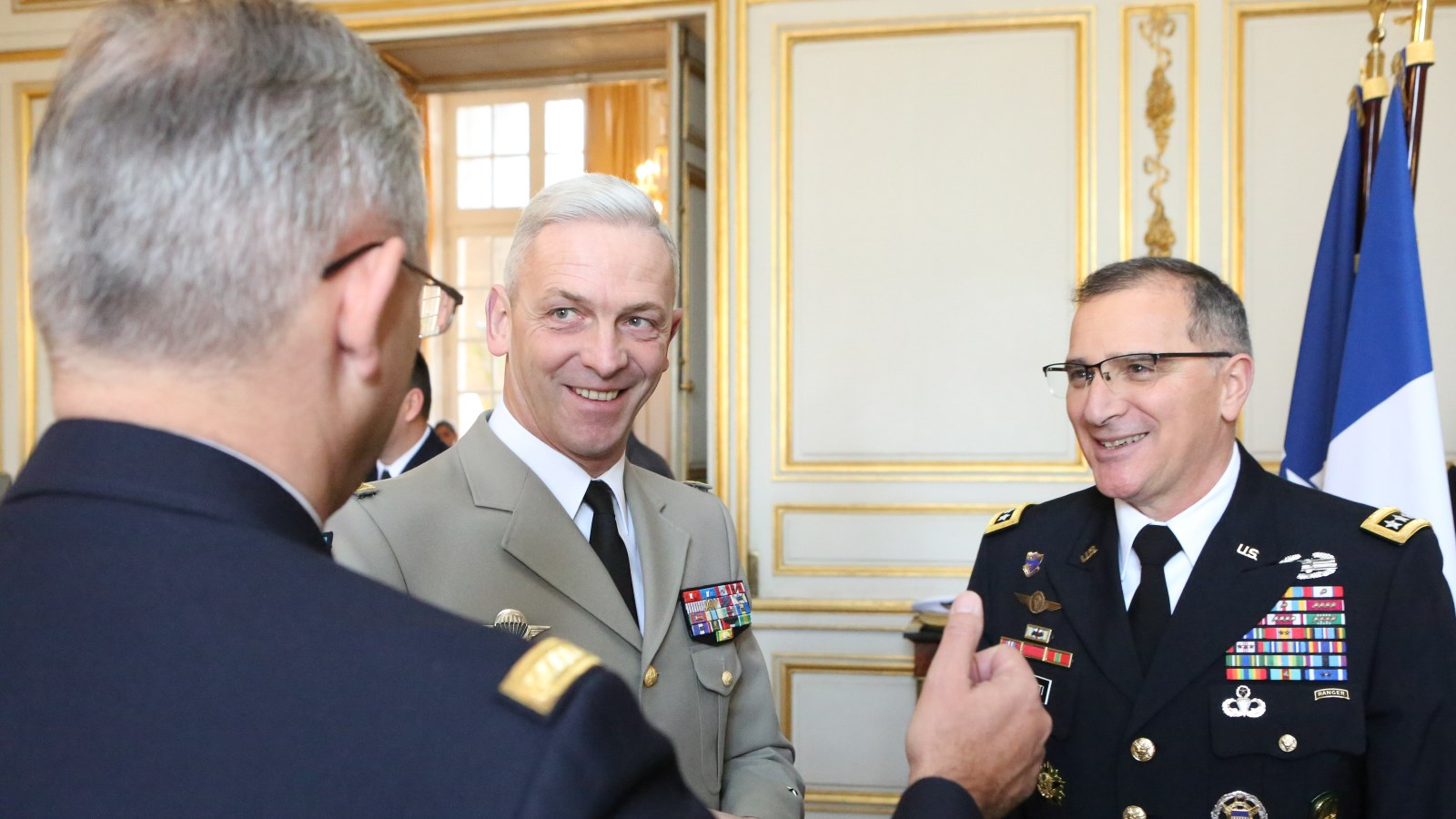 General Mercier with his Counterpart General Scaparrotti in France and Belgium